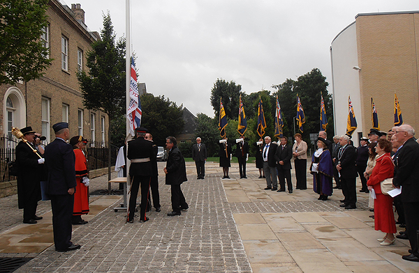 The Armed Forces Day flag is raised at the Council's headquarters