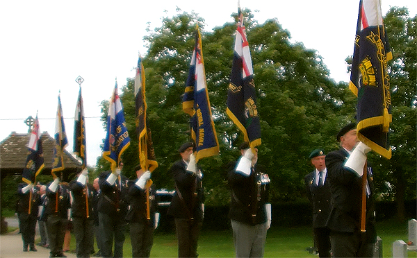 Area and Branch Standards paraded en route