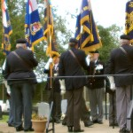 Standard Bearers line the route to the church