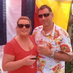 S/Ms Hilary Meers and Karl Webb, make the most of not hosting this year's BBQ