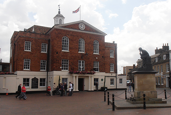 The annual Sea Sunday service takes place outside Huntingdon's Town Hall in front of the War Memorial
