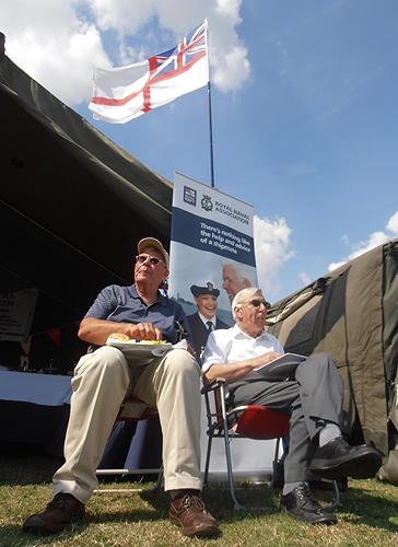 Shipmates take a lunch break