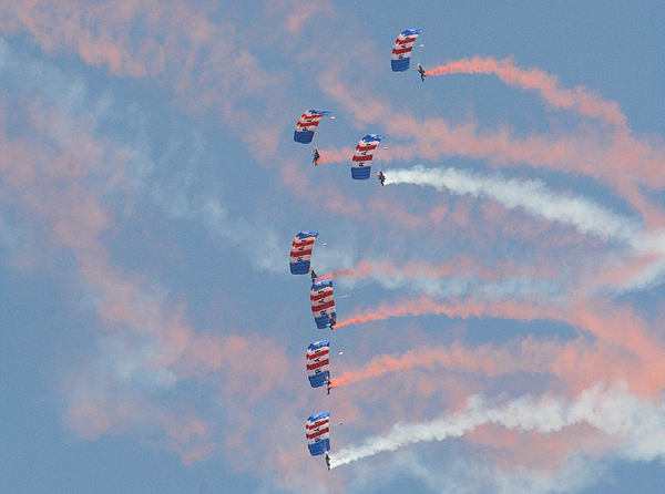 Another highlight is the display from the RAF Falcons