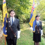 Barry Pattison and Jane Crowe with the RBL Standards