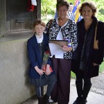 Relatives inside the Lych Gate