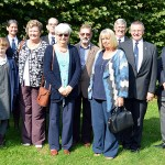 Final group photograph within the church grounds