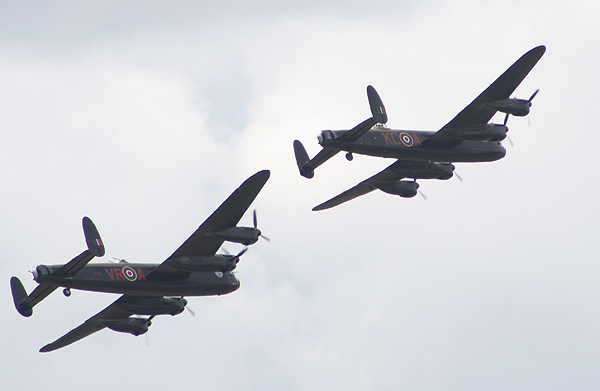 British and Canadian Avro Lancasters at Little Gransden (Photograph Karl Webb, Huntingdon RNA)