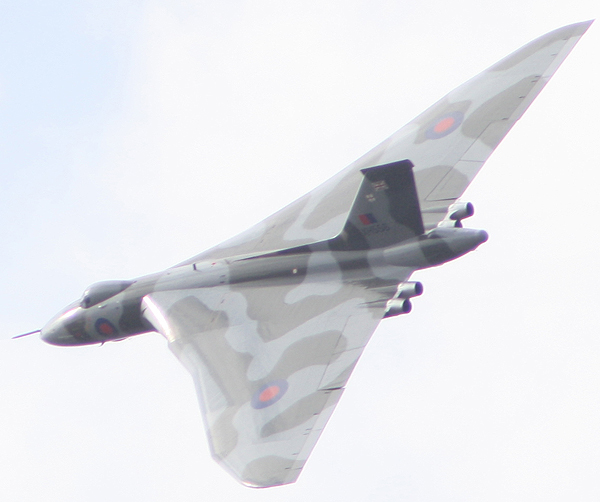 Avro Vulcan at Little Gransden (Photograph Karl Webb, Huntingdon RNA)
