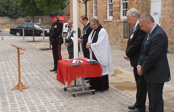 The Revd Andrew Milton Blesses the 'Red Duster'
