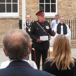 Colonel Derek Bristow passes on messages from the Lord Lieutenant and HM the Queen