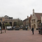 The RAF Wyton Area Voluntary Band march into position