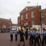 The Air Cadets march into Market Square