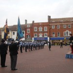 The Deputy Lord Lieutenant returns the salute