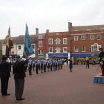 The Deputy Lord Lieutenant returns the salute
