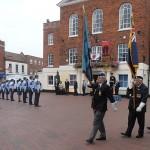 Standard Bearers march off