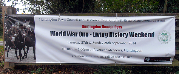 Living History Weekend Banner