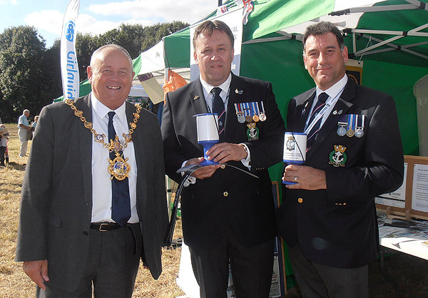 The Mayor meets shipmates Pete Aston and Karl Webb