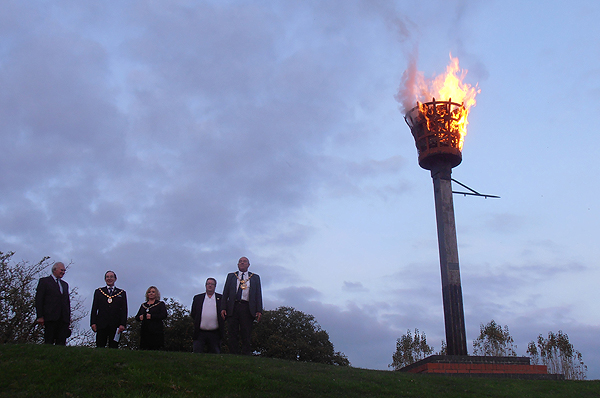 The Beacon is lit by the Mayor to close the day's events