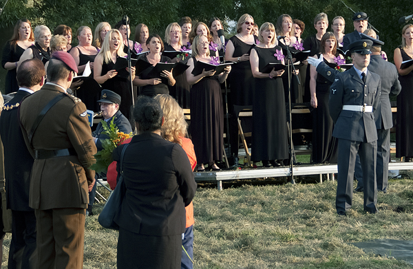 Music and songs were provided by the Wyton Area Voluntary Band, and the Military Wives Choir