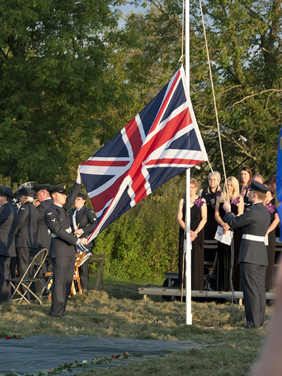 The Union Flag is lowered