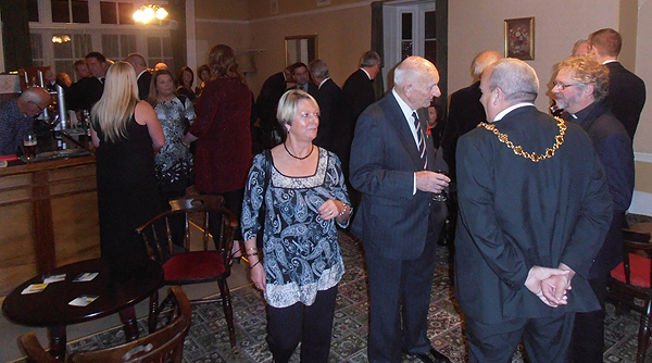 The Mayor of Huntingdon and shipmates muster in the bar