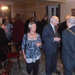 The Mayor gets to know  the shipmates and guests