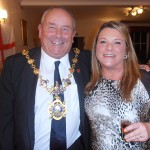 The Mayor and shipmate Hilary Meers-Webb