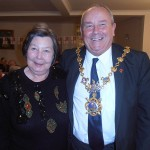 Shipmate Barbara Knowles with the mayor of Huntingdon