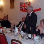 After the Loyal Toast, and the Toast to the Immortal Memory, shipmate Bill Small invites the Mayor to say a few words