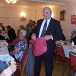 Shipmate Dick Bacon wins a new bag - suits him