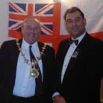The Mayor and shipmate Karl Webb