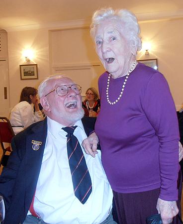 Isobel Johnson and Spike Milligan having fun at the RNA Trafalgar Dinner, 2012