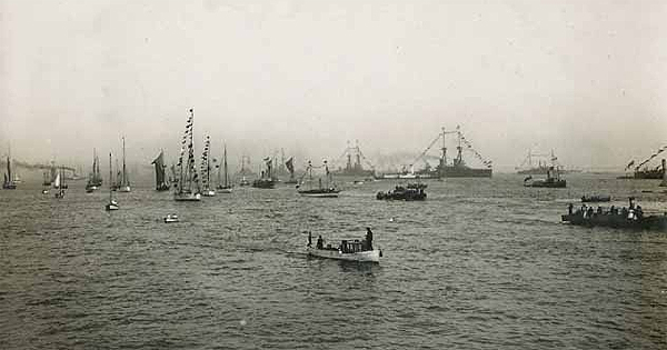 Isobel would have witnessed a similar sight - the fleet at Southend on Sea