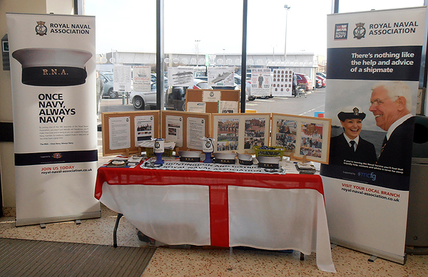 Our cut-down display by the entrance of Morrisons