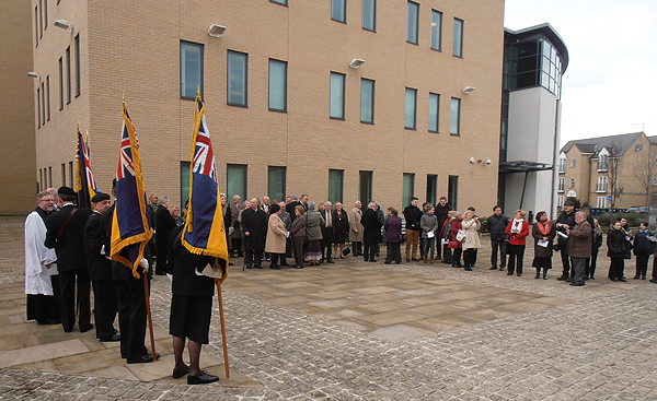 Standard Bearers, VIPs and guests gather for the ceremony