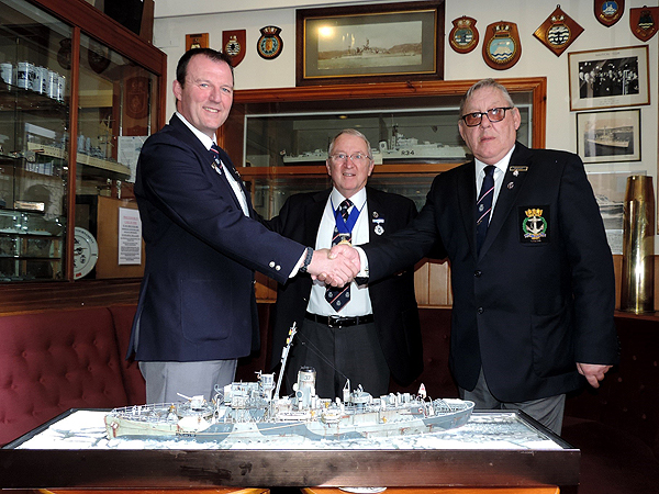 The handover of HMS Bluebell