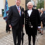 Colonel Derek Bristow DL and the High Sheriff of Cambridge (S/M Victor Lucas)