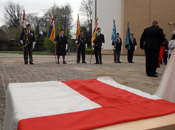 The Flag of St George and Standard Bearers from all three Services