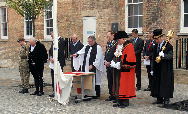 Reverend Andrew Milton Blessing the Flag of St George