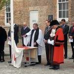 S/M Andrew Milton Blesses the Flag of St George