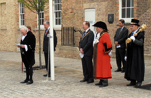 The High Sheriff of Cambridge also addresses VIPs and Guests