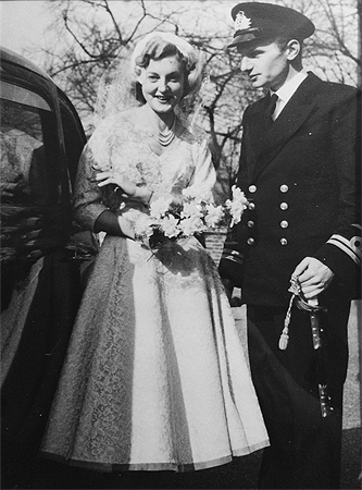 Graham and Dawn's wedding day, 19 March 1955