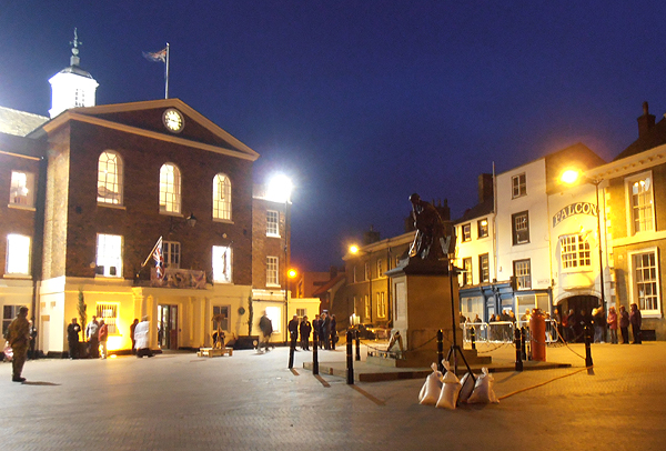 Huntingdon's War Memorial and the VE Day Beacon