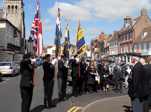 RBL and RNA Standard Bearers, town Councillors, veterans and guests