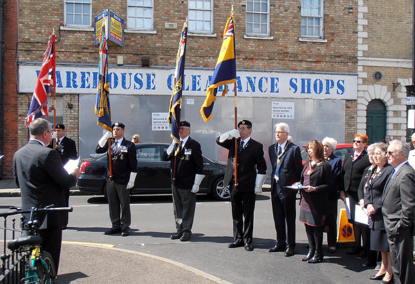 Proud to parade Association Standards in memory of Clement