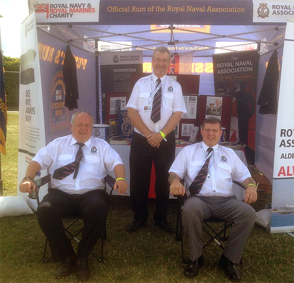 Shipmates from Aldershot Branch man their stall