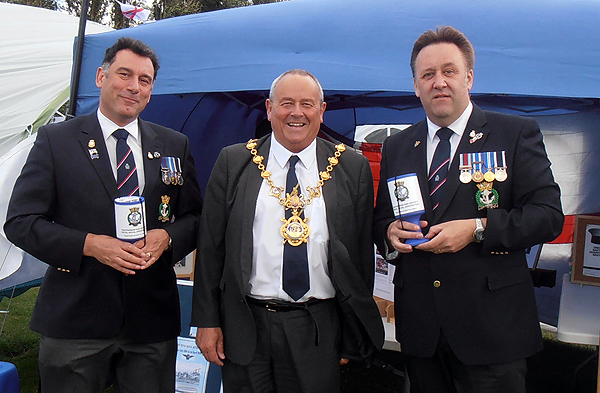 S/Ms Karl Webb and Pete Aston with the Mayor of Huntingdon, Bill Hensley