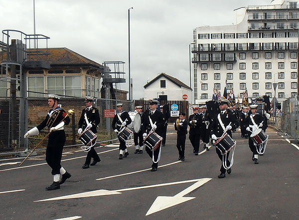 Folkestone Cadets lead the Parade