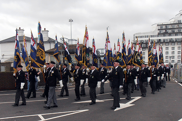 Standard Bearers paraded National, Area, and Branch Standards