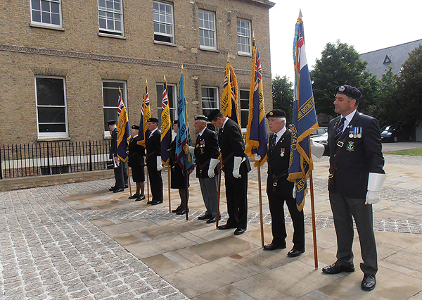 Standard Bearers from the RNA, RBL, and RAFA were in attendance